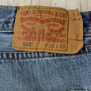 Levi's Jeans - Levi's 501 Distressed Grunge Jeans
